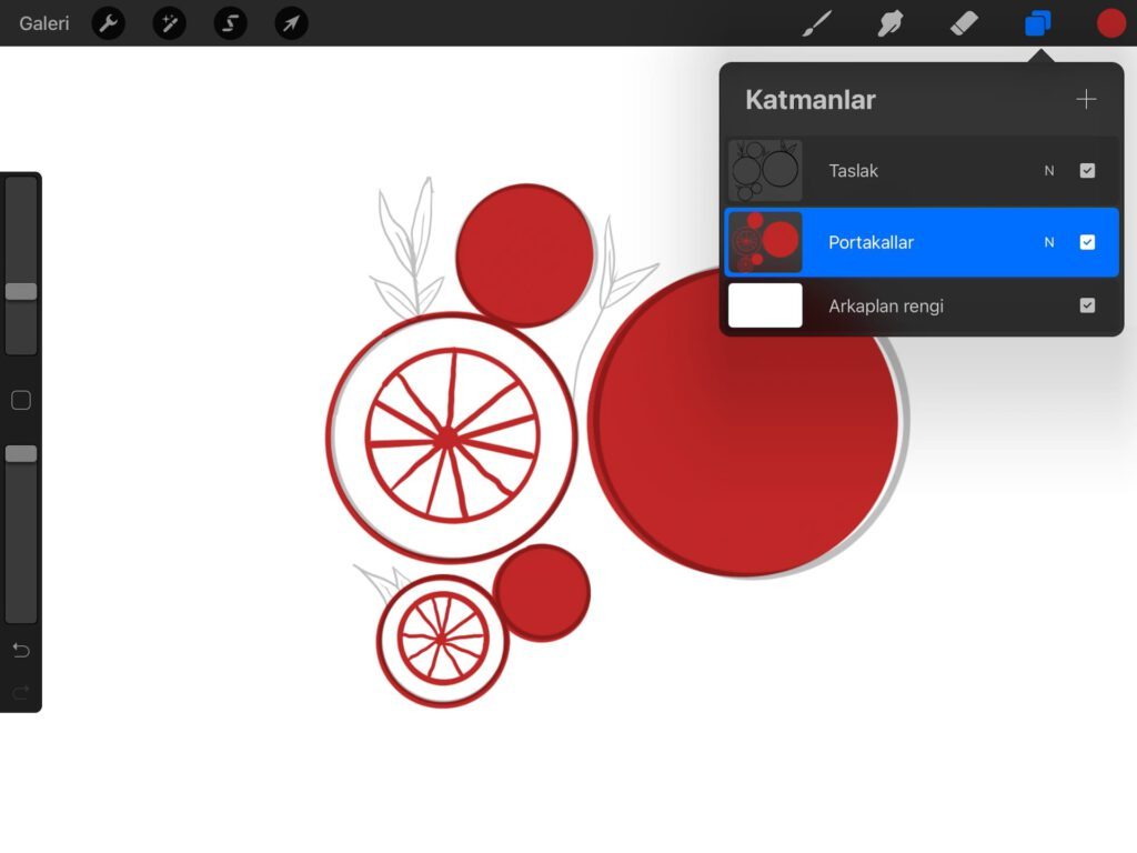 Procreate İle Geometrik Meyve Çizimi Nasıl Yapılır?